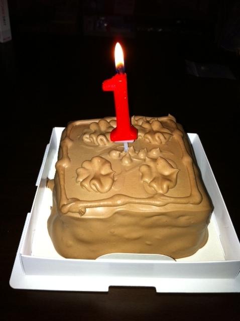 結婚1周年ケーキ